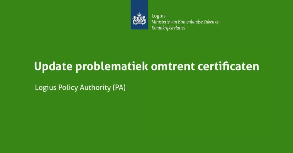 Certificaten Logius